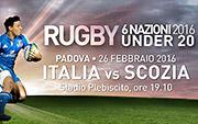 prevendita 6 nazioni rugby under 20
